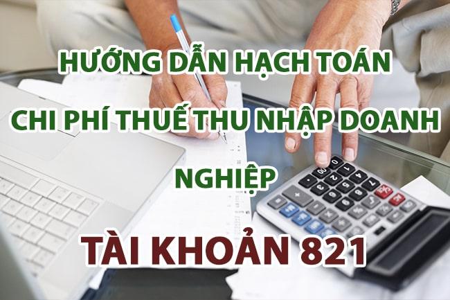 hach toan chi phi thue thu nhap doanh nghiep