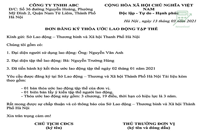 don dang ky thoa uoc lao dong tap the