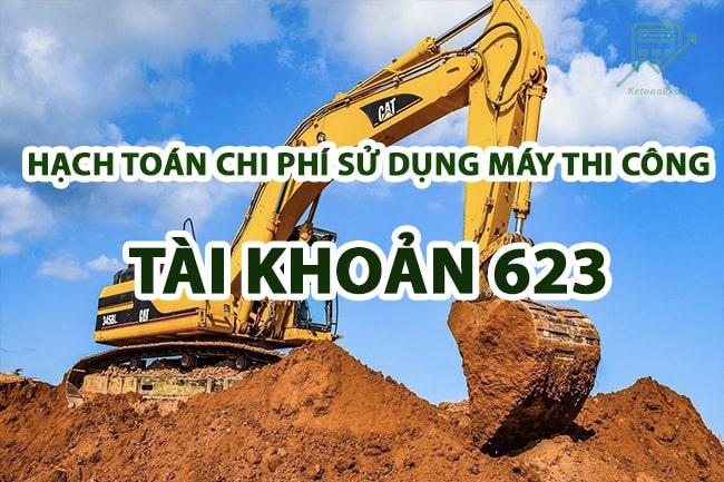 hach toan chi phi su dung may thi cong