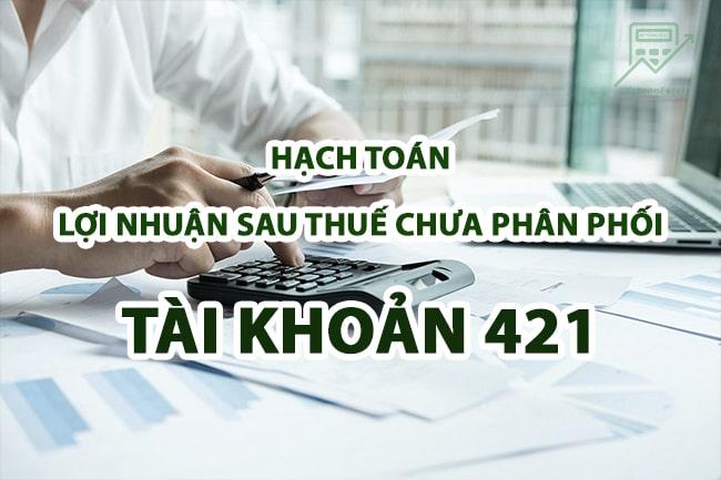 hach toan loi nhuan sau thue chua phan phoi